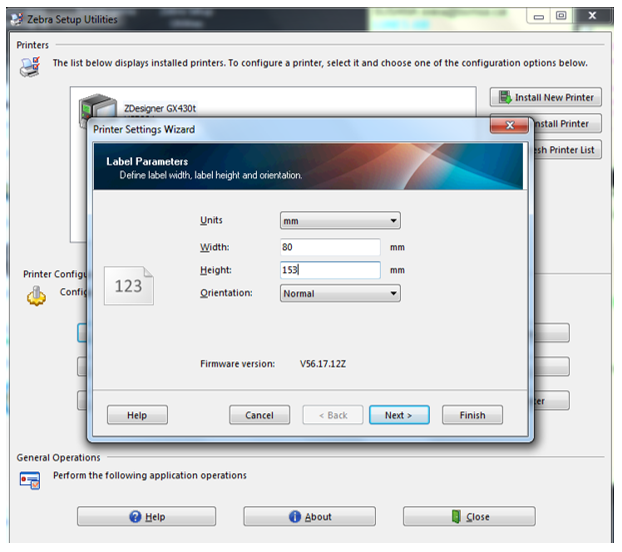 How to configure the Zebra GX430t printer – Client Support